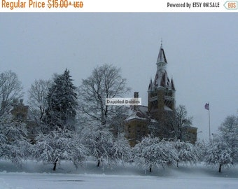 15% off Christmas in July Winter landscape photography, Wisconsin photography, West Bend old courthouse photo, west bend wisconsin