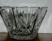 sale Vintage crystal  bowl hexagon bowl  lead crystal  hand cut crystal small crystal bowl