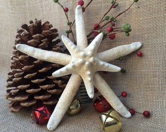 Starfish Tree Topper, Christmas Tree Topper, Double Starfish Tree Topper, Coastal Christmas, Sea Star Tree Topper, Coastal Tree Topper