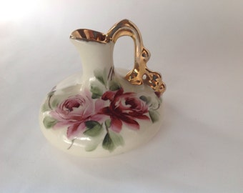Vintage Small Pitcher,Miniature Pitcher, Floral Pitcher, Small Creamer,vintage creamer