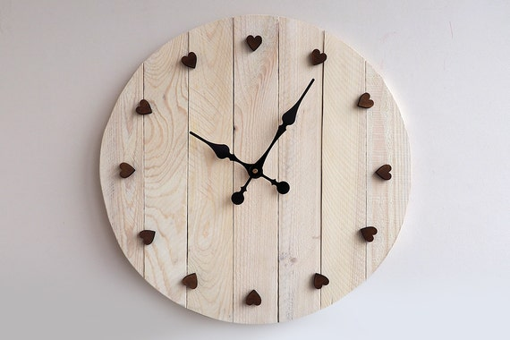 Large Wall Decor Rustic : Rustic wall clock large home decor by