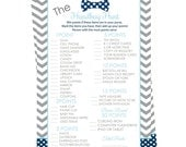 Handbag Hunt Baby Shower Game Navy Bow Tie Party Printable Instant Download