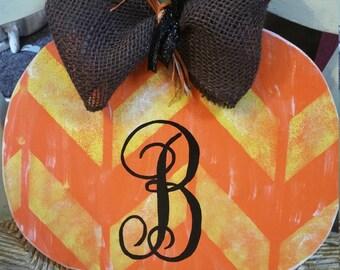 Letter B monogram pumpkin fall decor