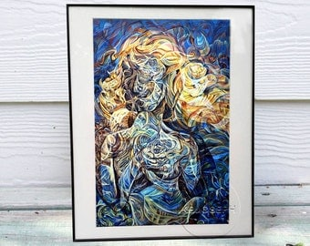 Rebirth of Venus 11x14in framed and matted giclee print