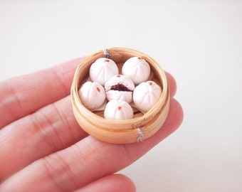 Miniature Food - Chinese steamed buns