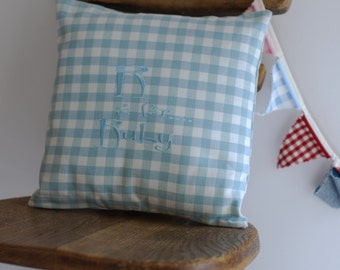 Personalised Childs Embroidered Cushion