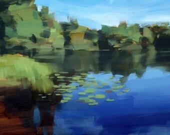 Autumn Cove on Lake Monomonac, NH (no.140) Oil Painting New Hampshire Fall 2016