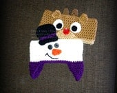 Snowman and Rudolph Reindeer Ear Warmers - Crochet Pattern 80 - Crochet Tutorial - Headband - Instant Download
