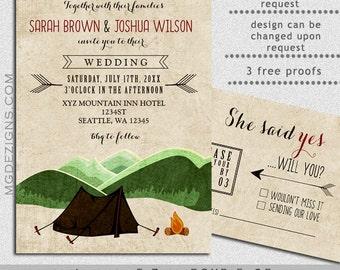 Woodsy wedding invitations | Etsy