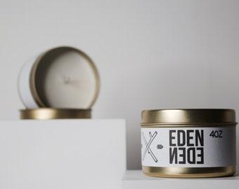 EDEN traveler // Soy Travel Candle Black Fig & white oak leaf Scented