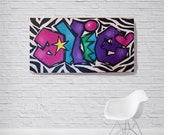Name Art for Tween Girl | Graffiti Painting For Kids