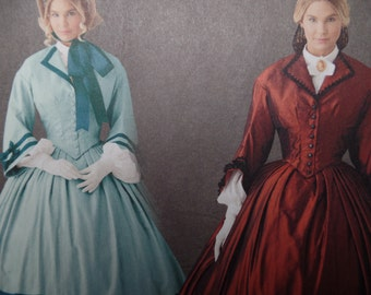 Victorian/Civil War Mary Todd Lincoln Travel Promenade Dress Pattern: Simplicity 1818  Sizes 8-14