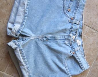 Levi's Stonewash Blue Denim Shorts