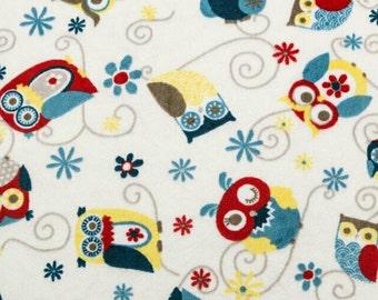 BTHY Adornit Owls All Around Cuddle Dusk Minky Owl Fabric Yardage by Shannon Fabric