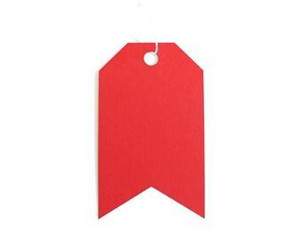Jumbo Tag Set - Crimson Red