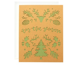 Tis the Season Laser Cut Christmas Card