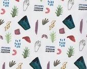 Pattern  watercolor hands symbols Poster Print
