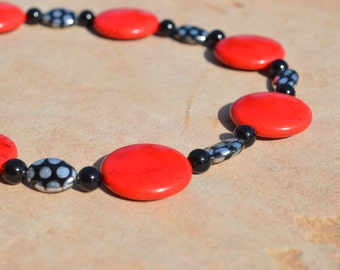 Red Howlite and Onyx