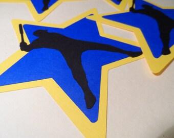 Baseball silhouette  ~ embellishment ~ die cut ~ decoration ~ srapbooking ~ All star ~