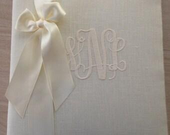 Monogrammed Wedding Books