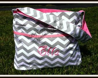 Chevron Diaper Bag - Personalized Diaper Bag - Baby Boy Diaper Bag - Baby Girl Diaper bag