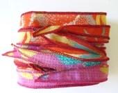 Silk Wrap Bracelet Ribbon, W572