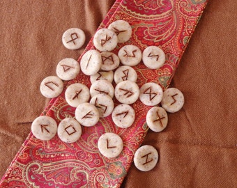 Rose Herbal Futhark Runes