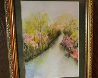 River Spring Original Watercolor
