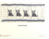 """English Smocking Plate """"Cute Kittens"""" by Beverly Andrews"""
