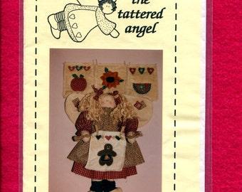 The Tattered Angel Gabreilla  Angel Rag Doll Pattern Size 17 inch Doll UNCUT