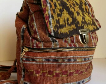 Tribal Print Cotton Weave Backpack