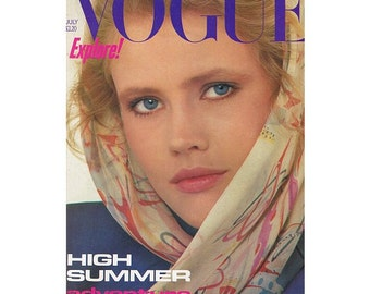 Vogue Magazine - UK July 1982 Vintage edition with cover photograph by Albert Watson
