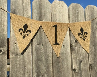 SAINTS HIGHCHAIR BANNER / New Orleans Saints First Birthday Decoration / Highchair Decoration / Football First Birthday Party