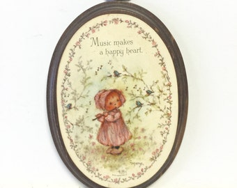 Vintage wood plaque, wood plaque, plaque, wall art, music plaque