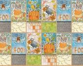 Spooky Town - Tricky Treaters Panel in Multi - Cori Dantini for Blend Fabrics - 112.110.03.1 - 5/8 Yard