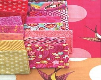 Tula Pink Color Bundle - Fat Quarter Bundle in Tourmaline (FQ-TPTOURMALINE) - Tula Pink for Free Spirit - 18 Prints