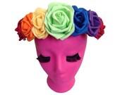 Rainbow Flower Crown: Pride LGBT Flower Halo 2014