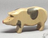 Big Pig - Hog / white with grey spots
