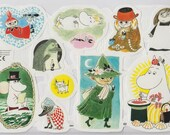 Moomin glossy pictures - one sheet