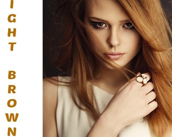 Buy 3 Get 1 Free: Henna Maiden Light Brown 100% Natural Chemical Free Hair Coloring (800)