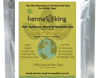 Henna Maiden Cassia Obovata (Neutral - Colorless) 100% Natural & Chemical Free Hair Coloring
