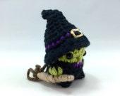 Witch Mini Amigurumi Doll