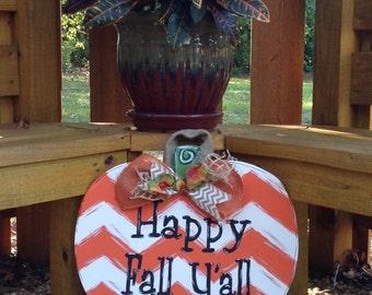 Pumpkin door hanger/Fall decor/Thanksgiving door decor/great pumpkin/welcome Fall decor