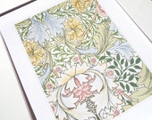 William Morris Botanical Wallpaper Pattern 1 Archival Quality Print on Watercolor Paper