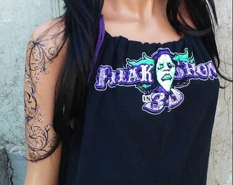 FREAKSHOW 3d BabyDoll Tank Top Shredded Shirt
