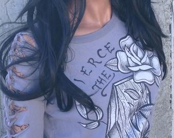 Pierce The Veil Shredded Band Shirt Longsleeve Sweatshirt