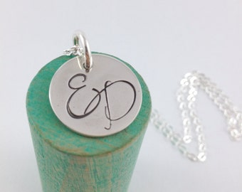 Monogram Necklace // Sterling Silver