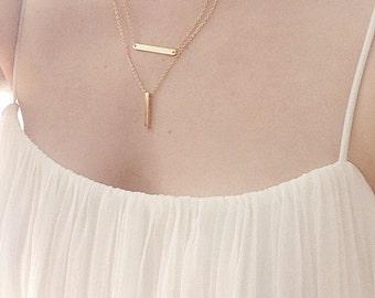 New, Delicate silver chain,Delicate gold chain,bar gold necklace,bar necklace,delicate gold jewelry,bar necklace gold, delicate bar necklace