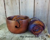 Wooden Yarn Bowl, Antique Brown