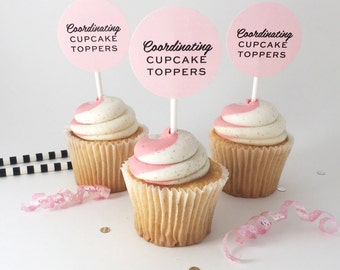 Coordinating Cupcake Toppers